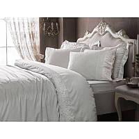 Комплект постельного белья с кружевом Tivolyo Home Elegant (white) евро размера, фото 1