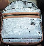Рюкзаки з паєтками і стразами (золото)25*20, фото 7