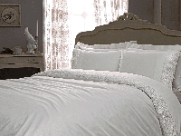 Комплект кружевного постельного Tivolyo Home Minoso (white) евро размера