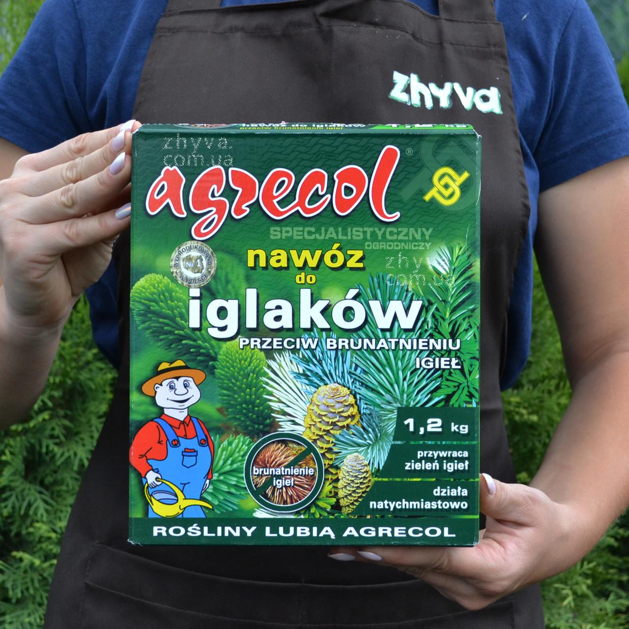 Добриво Agrecol для хвойних рослин від пожовтіння 1,2кг