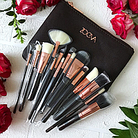 Набор кистей ZOEVA ROSE GOLDEN COMPLETE 15 штук [реплика]