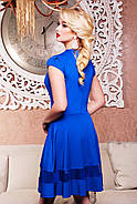 Женское молодежное платье,полуприлегающего силуэта Лилия / размер 42-50 / цвет электрик, фото 2