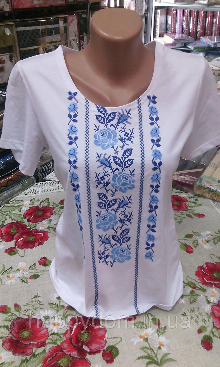 Вышиванка женская футболка белая