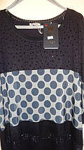 Туника - Горох, 52-66 рр, пр- во Турция, большие размеры, черный, фото 3