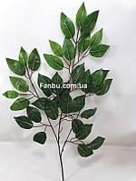 Искусственная ветка фикуса (листья зеленые )