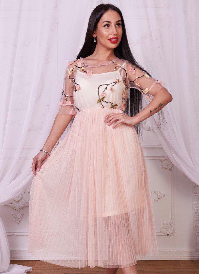 72c3718649d Купить нежное платье в пастельных тонах арт-726