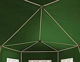 Павильон садовый 3х6 зеленый, фото 4