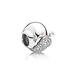 Серебряный шарм «Улитка» в стиле Pandora