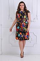 Модное легкое летнее платье в размерах 50-54, фото 1