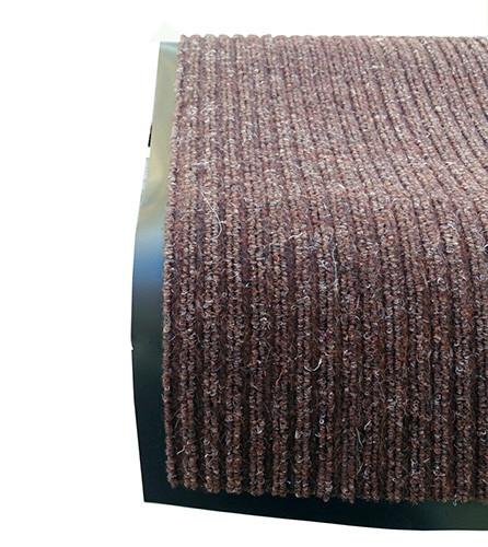 Грязезащитный коврик дабл стрипт, 90*150 коричневый