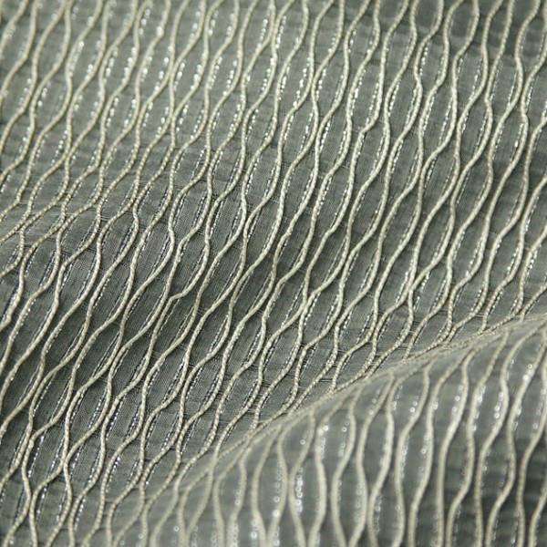 Тюль-органза с декоративными нитями светло-кремовый 6196 002GOF-001