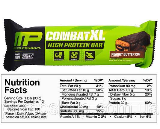 Батончик MusclePharm Combat XL High Protein Bar 90 г (1 шт.), фото 2