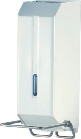 Дозатор жидкого мыла, пластик белый 1,2Л с локтевой приставкой a73601sp