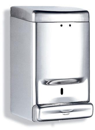 Дозатор жидкого мыла, нержавеющий корпус, глянец 1,1Л dj0030c