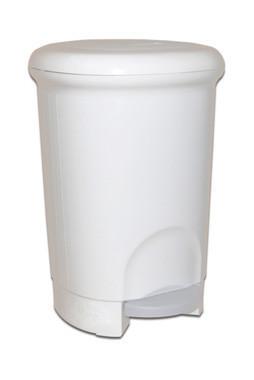 Кошик пластмасовий з педаллю 14л m-814w