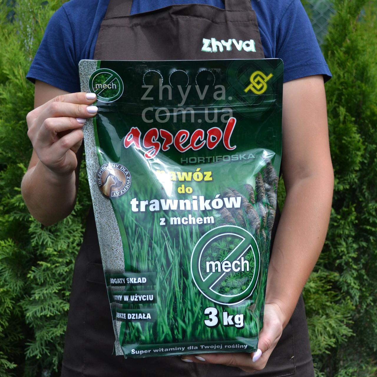 Добриво Agrecol для Газону від моху Hortifoska 3кг