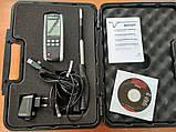 Термоанемометр VOLTCRAFT PL-135HAN (0,1 - 25 м/с; 0-99999 м3/мин; 0 - 50 С) Германия, фото 5