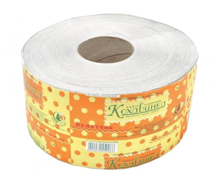 Туалетная бумага рулонная, макулатура. Джамбок bк-101