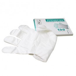 Перчатки одноразовые полиэтиленовые 100 шт
