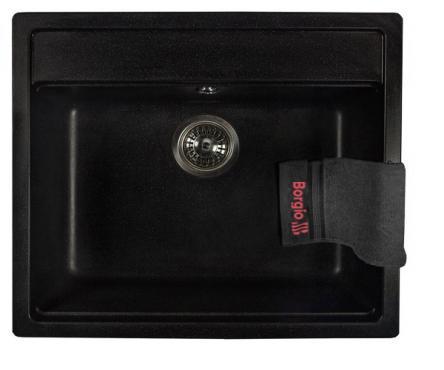 Мийка гранітна SQ-570x510 (чорний)