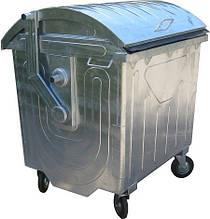 Оцинкованный контейнер с куполообразной крышкой на 1100Л.