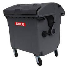 Контейнер sulo с куполообразной крышкой на 1100Л. (модель крышка в крышке)