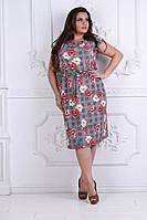 Модное летнее  женское платье, увеличенных размеров 50-54, фото 1