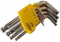 Набор Г-образных ключей Сталь HEX шарообразные 9 ед. (арт. 48102)