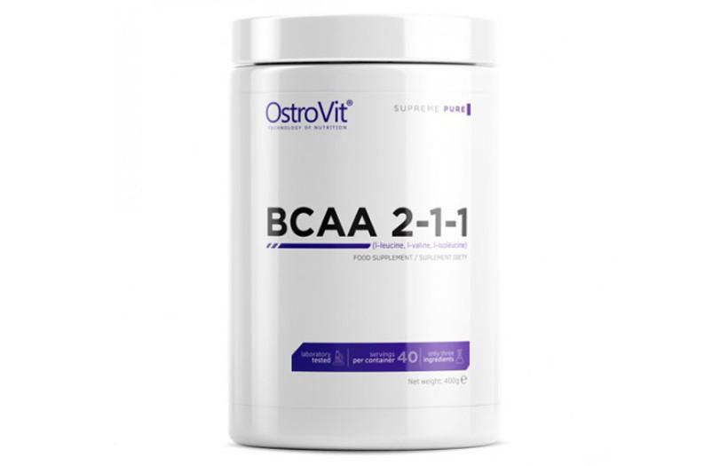 Амінокислоти Ostrovit BCAA 2:1:1 400g.(БЕЗ СМАКУ)