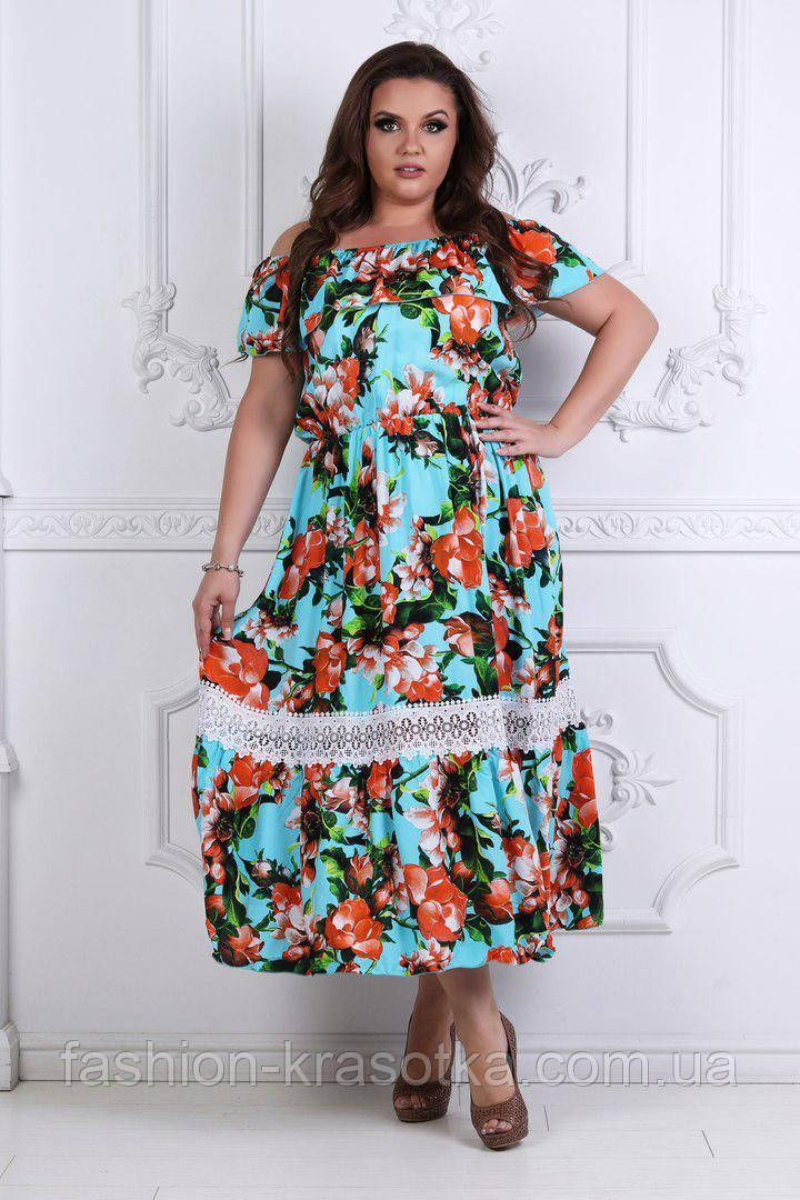 Модное легкое летнее платье  ткань летний тонкий коттон+кружево