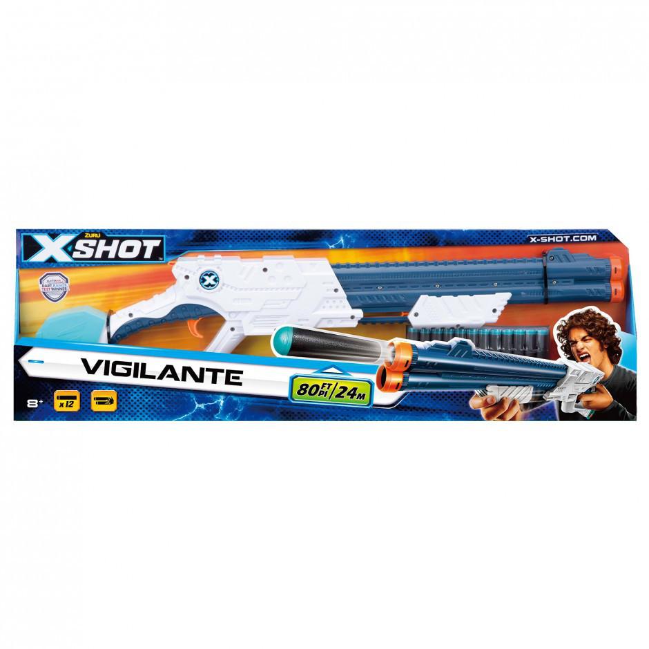 Бластер X-Shot швидкострільний EXCEL Vigilante 6 банок, 10 патронів