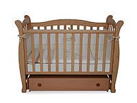 Детская кроватка Верес Соня ЛД15 маятник з шухлядою, бук