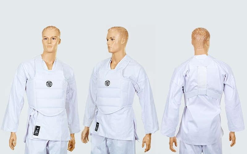 Защита корпуса (жилет) для каратэ детская WKF. Распродажа! Оптом и в розницу!
