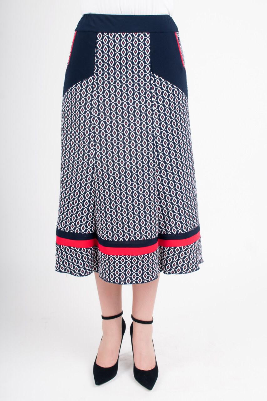 Элегантная женская юбка Розана с красной отделкой