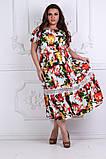 Модное легкое летнее платье ткань летний тонкий коттон+кружево, фото 2