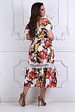Модное легкое летнее платье ткань летний тонкий коттон+кружево, фото 4