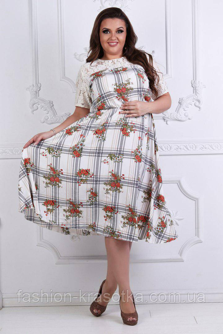 Нарядное летнее женское платье,размеры 50-56