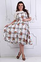 Нарядное летнее женское платье,размеры 50-56, фото 1