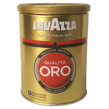 КофеLavazza Qualita Oro молотый в ЖБ