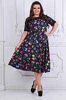 Нарядное легкое женское платье,размеры 50-56, фото 1