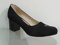 Туфли женские замшевые натуральные на каблуке, фото 1