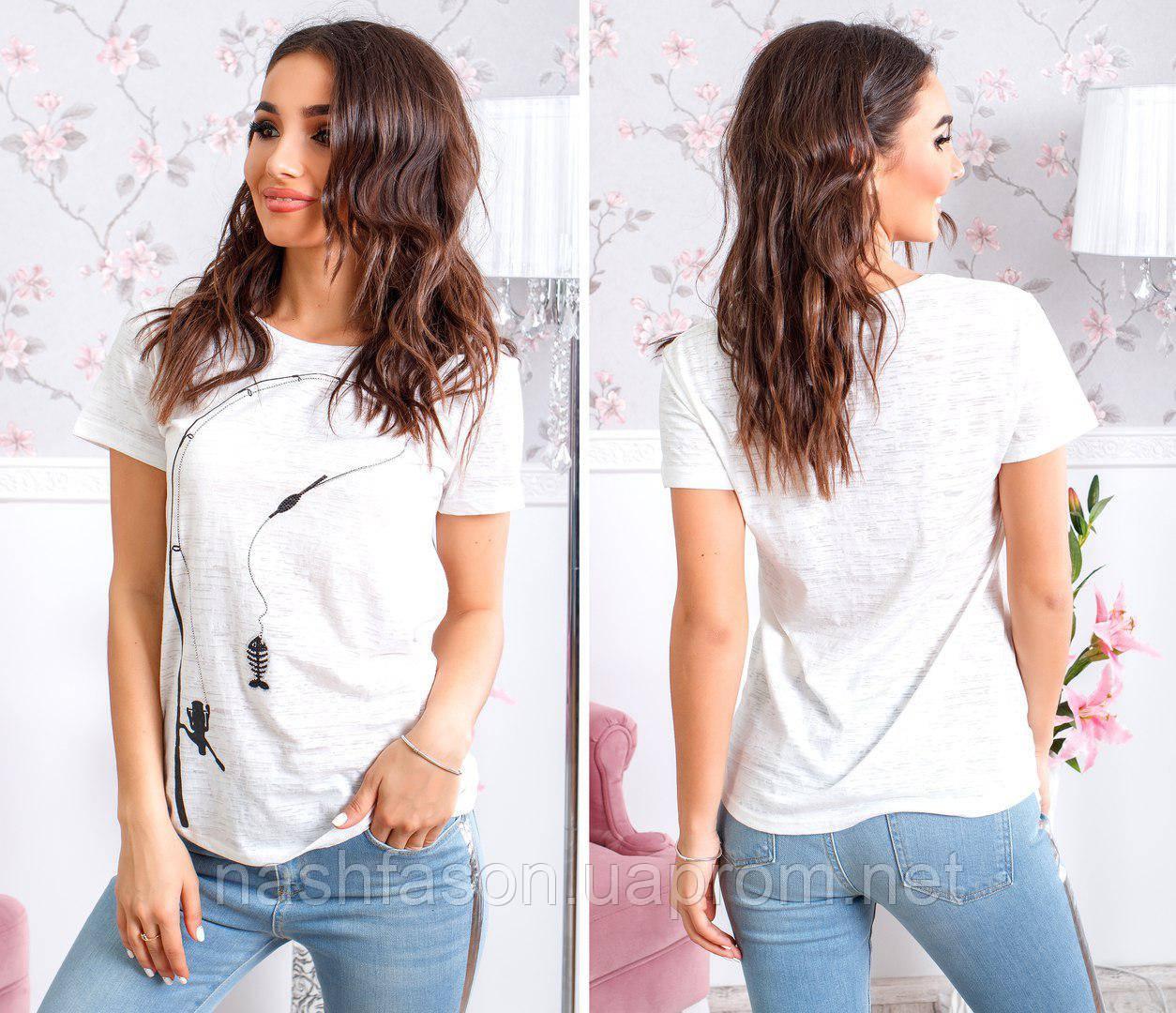 """Женская футболка """"Рыбка"""", 10152"""
