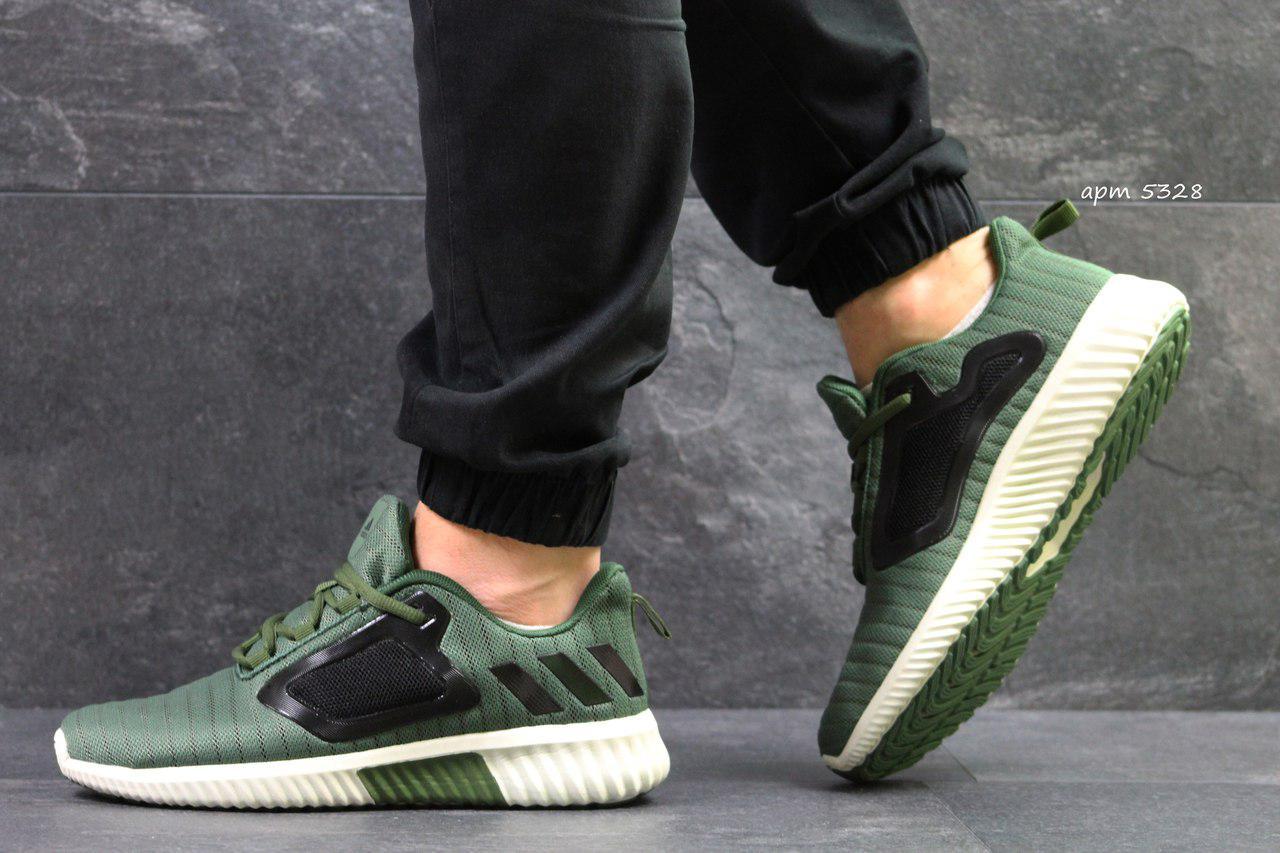 Кроссовки мужские Adidas ClimaCool,сетка,темно зелёные 42,44,45