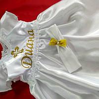 Именное крестильный комплект  платьице+повязка
