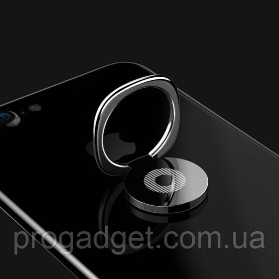 Кольцо держатель для iphone, смартфона, телефона от Baseus black (черный)