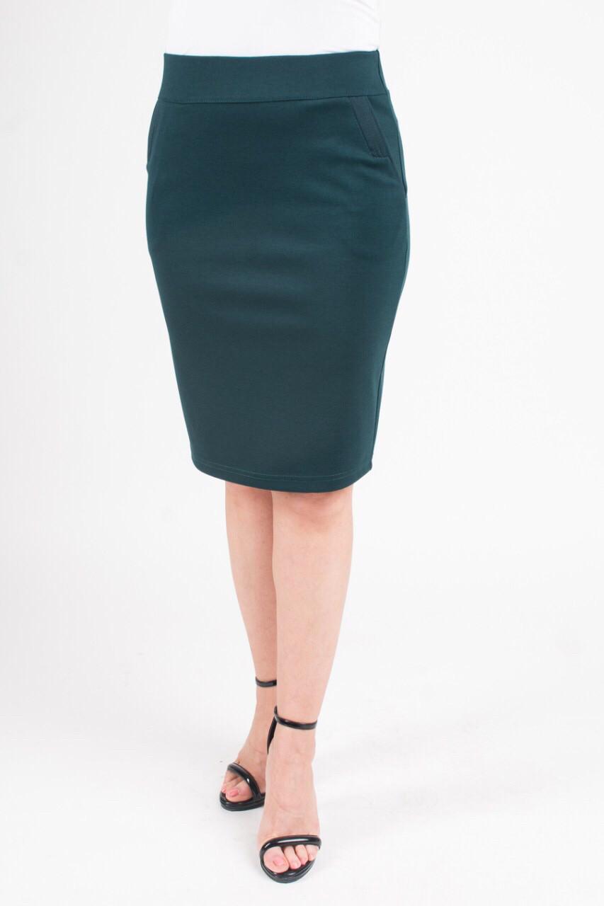 Стильная женская юбка-карандаш Мелиса зеленого цвета