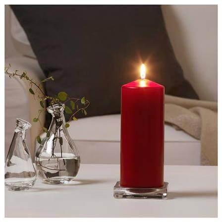 ФЕНОМЕН Неароматичная свеча формовая, красный, 25 см, 90285598, IKEA, ИКЕА, FENOMEN, фото 2