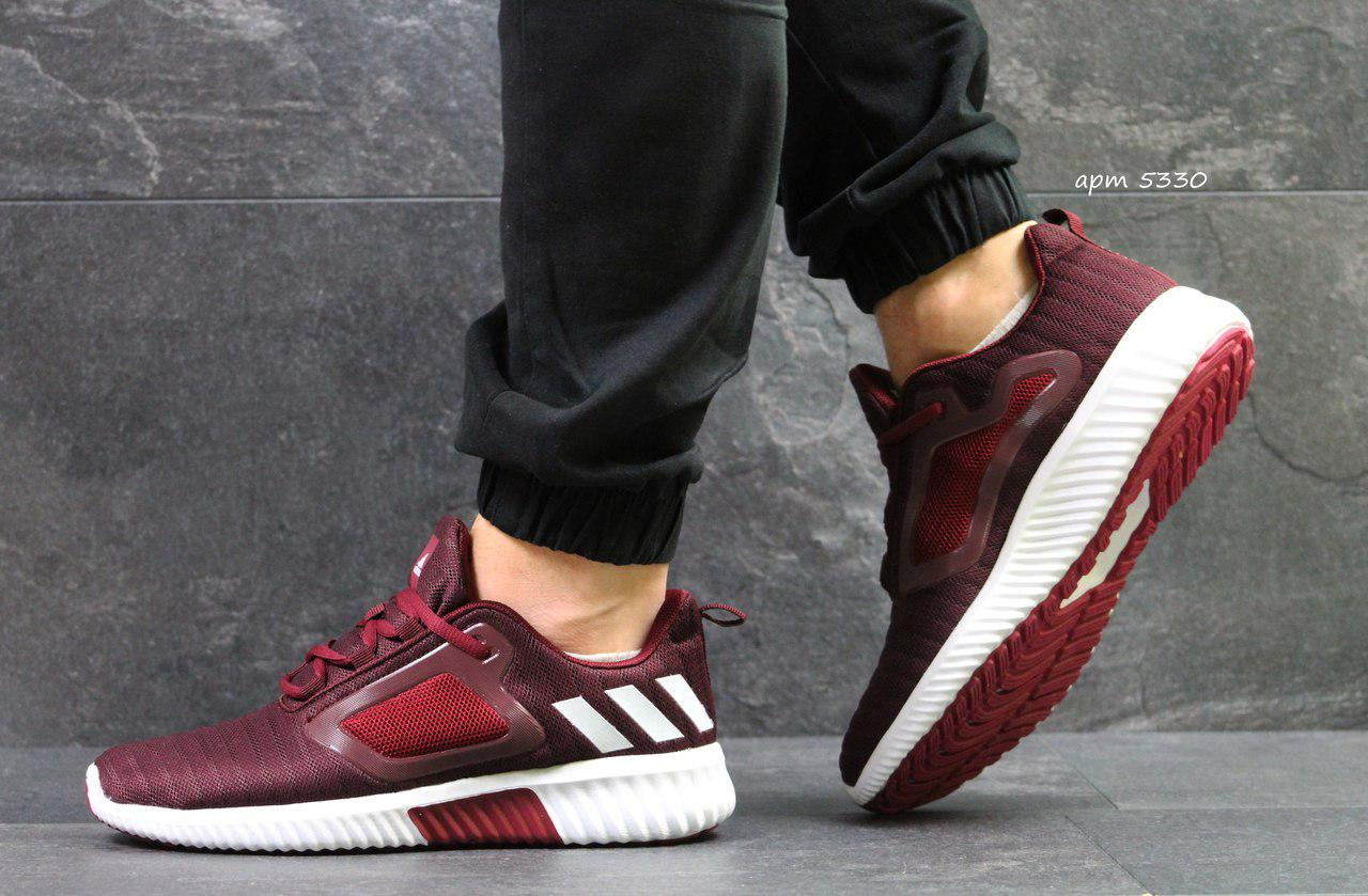 Кроссовки мужские Adidas ClimaCool,сетка,бордовые 44р