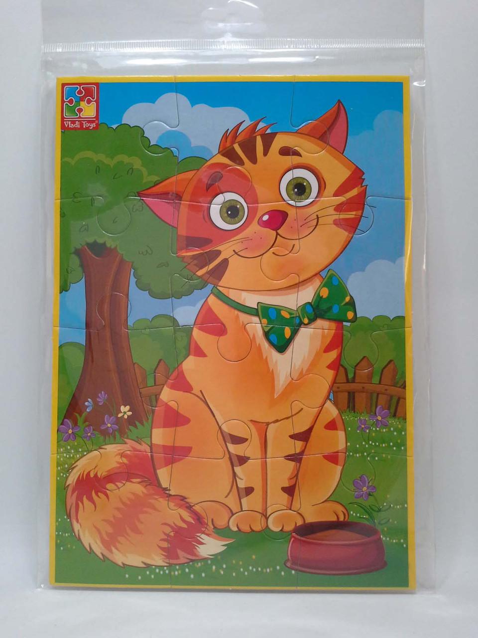 Гра VladiToys М'які пазли А5 VT1103-52 Улюбленці Кіт