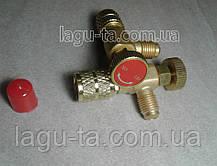 Переходник - нажималка для заправки кондиционеров работающих на R410a. 5/16×1/4., фото 2